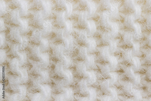 Background knit white thread knit with patterns - 260359886