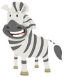 African zebra cartoon animal character