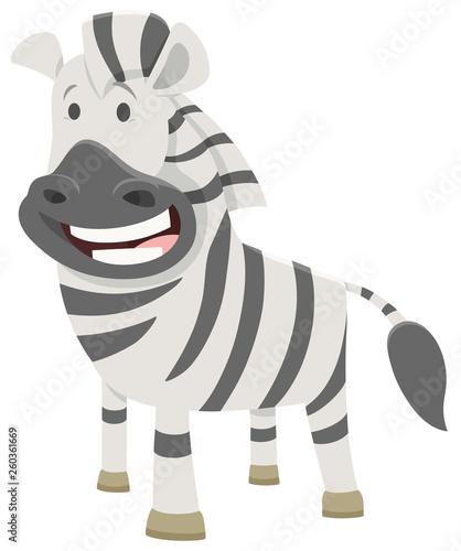 African zebra cartoon animal character - 260361669