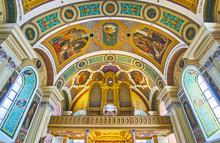"Постер, картина, фотообои ""The organ in St Nicholas Parish church, Bad Ischl, Salzkammergut, Austria"""