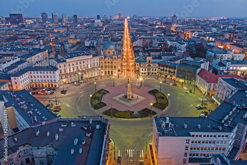 Łódź, Poland -view of Freedom Square.	 © whitelook