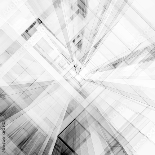 Abstract architecture 3d rendering © 1xpert