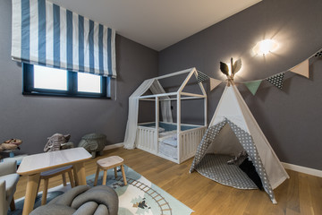 Modern kids room interior