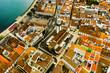 canvas print picture - São Miguel - Die Azoren aus der Luft. Ponta Delgada und mehr