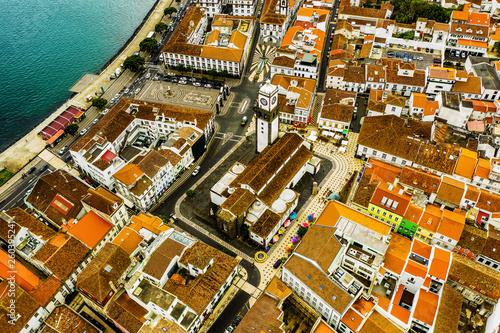 canvas print picture São Miguel - Die Azoren aus der Luft. Ponta Delgada und mehr