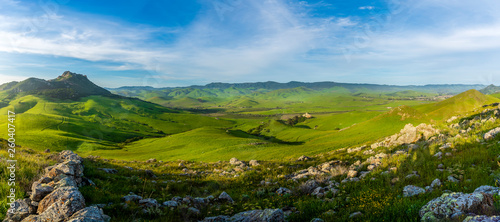 Panorama of Countryside and Mountain - 260407417