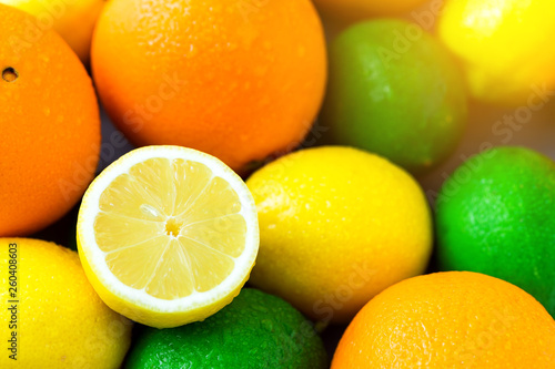 Leinwandbild Motiv Citrus fruit background