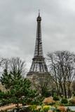 Fototapeta Fototapety z wieżą Eiffla - Eiffel Tower, Photo image a Beautiful panoramic view of Paris Metropolitan City © underworld