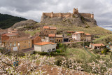 the beautiful panorama of the city of Clavijo with its medieval fortress