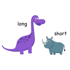 Opposite long and short vector illustration © Jehsomwang