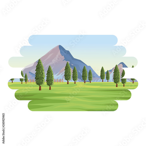 mountain lanscape with trees