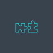 compatibility concept blue line icon. Simple thin element on dark background. compatibility concept outline symbol design. Can be used for web and mobile UI/UX