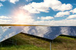 Leinwandbild Motiv Solar panel, photovoltaic, alternative electricity source -  concept of sustainable resources
