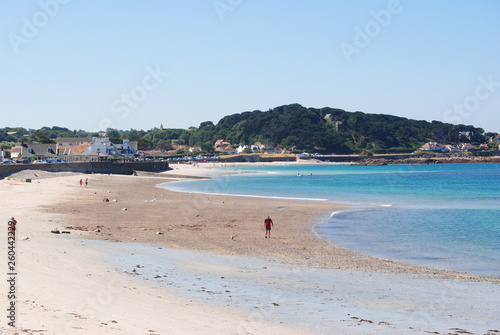canvas print picture guernseybuchtstrand
