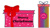 Merry Christmas. White background with gift box