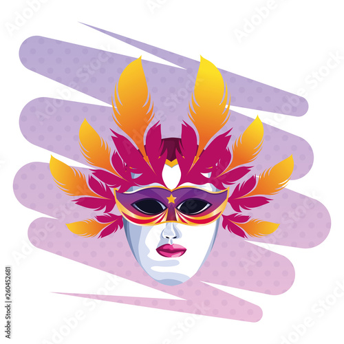 mask with feathers © Jemastock
