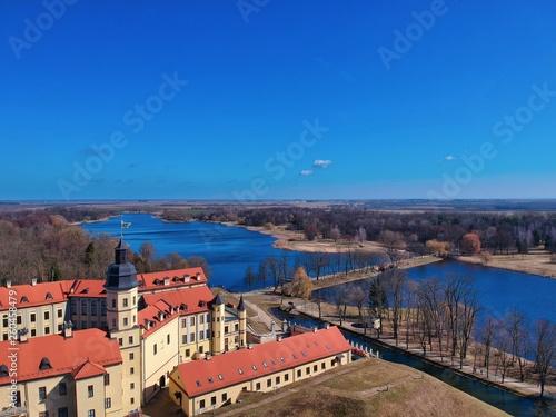 Aerial view of Nesvizh Castle, Belarus - 260458479