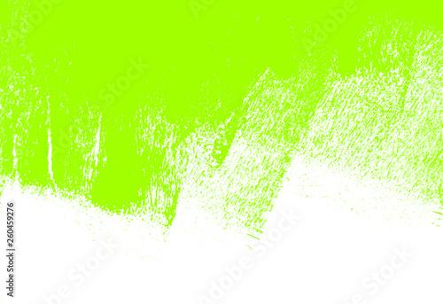 Leinwandbild Motiv green white paint brush strokes background
