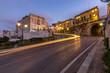 canvas print picture - Lichtspuren in der Stadt, Italien