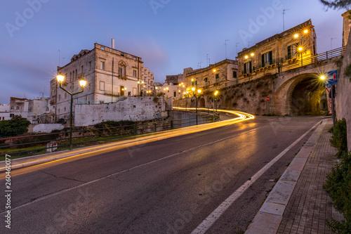 Lichtspuren in der Stadt, Italien