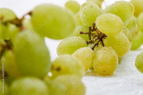 canvas print picture Weintrauben grün Obst