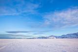 Snow desert. Kola Peninsula landscape