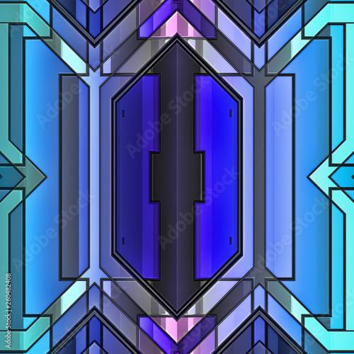 Abstrakt geometrisch blau muster