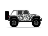 Jeep Pixel Camouflage Winter