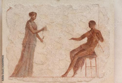 fototapeta na ścianę Ancient roman fresco showing a couple