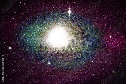 Supernova explosion photo manipulation
