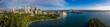Unique panoramic view of the beautiful city of Sydney, Australia