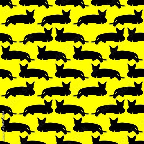 fototapeta na ścianę Seamless pattern with cats. Vector illustration