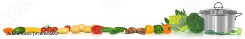Verschiedene Gemüsesorten als Banner