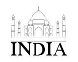 India logo vettoriale con Taj Mahal