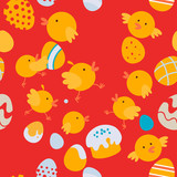 Easter little chickens pattern