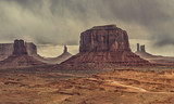 view of desert landscape in Monument Valley,