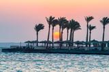 Sunrise on a peninsula of Hurghada on the Red Sea