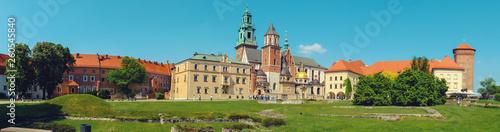 Wawel Castle in Krakow. Panorama