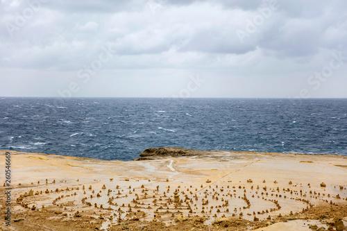 Coastline on the Gozo island, Malta