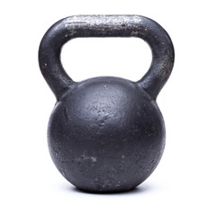 Black kettlebell  on white background © BortN66