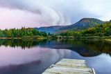 Sunset in Petit Lac Monroe, in Mont Tremblant National Park