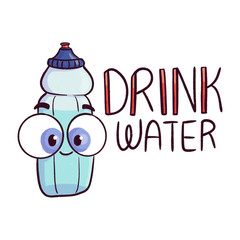 Drink Water Cartoon