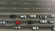 Quadro Highway with cars aerial,  top view