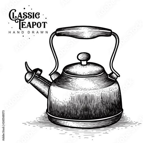 Vintage Teapots hand drawn © NBArt studio