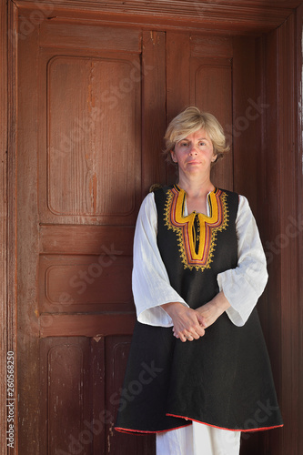 Adult female in Bulgarian folk costume, Stara Planina SerbiaAdul © sima