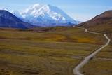 Beautiful view on Mt. Denali in national park Denali in Alaska