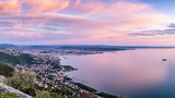 Panoramic view of the beautiful city of Trieste in Italy