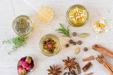 Herb and spice infused honey