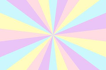 Vector sunburst background. Stripes in retro pop art style