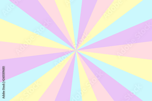 Vector sunburst background. Stripes in retro pop art style © Anna